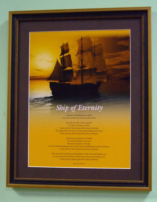 Ship Of Eternity 11x14 Wood with Gold Trim Frame